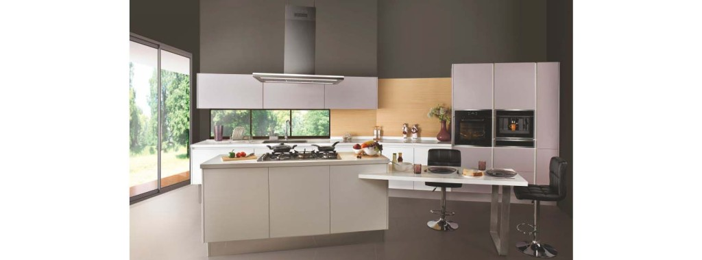 Modular kitchen hhys inframart for Sleek kitchen design ideas